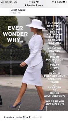 First Lady Melania Trump.the epitomie of style.