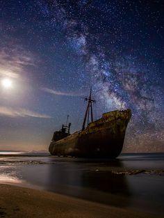 """ Dimitrios"" under the stars - Gytheio, Peloponnese, Greece"