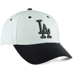 Los Angeles Dodgers  47 MLB 2Tone White Charcoal  47 MVP Cap ❤ liked on Polyvore  featuring accessories 656711d8696e