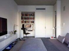 Εντυπωσιακά και μοντέρνα γραφεία στο σπίτι | Otherside.gr (12) Bedroom Workspace, Home Office Bedroom, Modern Bedroom, Closet Office, Bedroom Ideas, Closet Desk, Master Bedroom, Bedroom Setup, Bedroom Photos