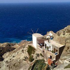 Blue infinity of olympos Karpathos Karpathos, Greek Islands, Paris Skyline, Greece, Places To Visit, Windmills, Water, Infinity, Landscapes