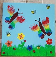 Fußabdrücke Schmetterling