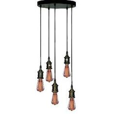 Warehouse Of Tiffany 12 X 12 X 40 Inch Black Ceiling Lights : Target
