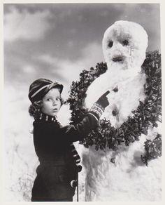 1939 Shirley Temple & Snowman