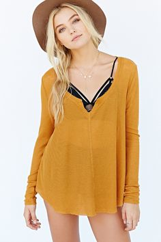 Ecote Marley Thermal Top - Urban Outfitters