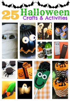 Make this Halloween special -grab your kids and have some fun with 25 Halloween Crafts and activities! www.skiptomylou.org #halloweencrafts #halloweentreats