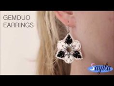Sieraden maken - Gemduo earrings (DIY Tutorial by Sayila) - YouTube