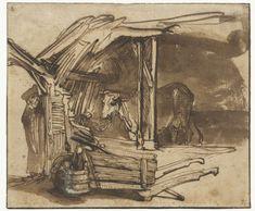 Een koe in de stal, Rembrandt Harmensz. van Rijn, 1638 - 1642