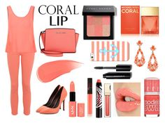 """Spring Beauty: Corals"" by andrea-anci-maletic ❤ liked on Polyvore featuring beauty, Michael Kors, Kenneth Jay Lane, NARS Cosmetics, Charles by Charles David, Charlotte Tilbury, James Jeans, Glamorous, Bobbi Brown Cosmetics and Sisley Paris"