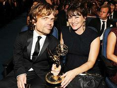 Peter with wife after winning emmy