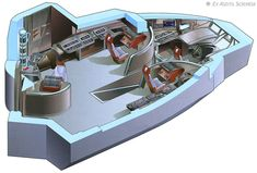U.S.S. Voyager - Delta Flyer - Cockpit