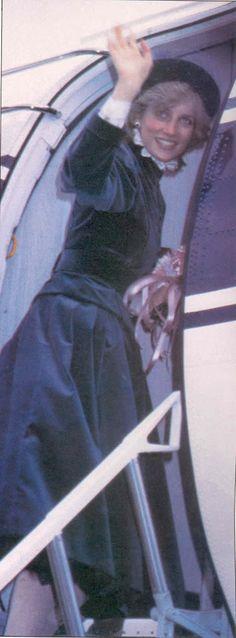 feb 1983 Princess Diana leaving Birmingham