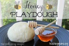 Honey Playdough Honey playdough is easy to make and smalls great! Just a few simple steps to make and you will have a great sensory experience. Bee Activities, Autumn Activities, Summer Activities, Toddler Activities, Jewish High Holidays, Hebrew School, Rosh Hashanah, John The Baptist, Sensory Play
