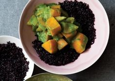 Thai Green Curry with Butternut Squash served over Black Forbidden Rice
