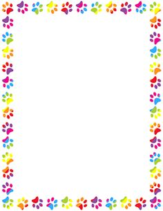 Back to school free printable border papers free wall border papers free craft art stars - Paw print wall border ...