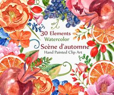I love her work. Watercolor Floral Clipart Peonies by LeCoqDesign