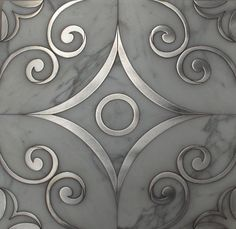 Water Jet Designs in Marble, Wood & Metal, on Designer Pages