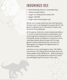 Indominus Rex Stats - Jurassic World - Esquire.com