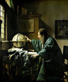 The Astronomer by Jan Vermeer - In the book, they say that the hair on the astronomer was done with 1 hair, amazing!
