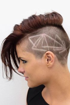 Here you have 54 badass undercut hair tattoos that will help you express your love for hair art, whether you are into short undercut hairstyles or long undercuts! Best Undercut Hairstyles, Buzz Cut Hairstyles, Thin Hair Haircuts, Short Hair Cuts, Short Hair Styles, Pixie Cuts, Shaved Hairstyles, Pixie Haircuts, Pixie With Undercut