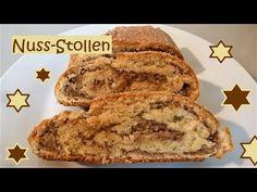 EIN TRAUM: Nuss-Stollen, ohne Rosinen, Orangeat, Zitronat ect.... - YouTube Banana Bread, French Toast, Youtube, Breakfast, Desserts, Winter, Noel, Challah, Treats