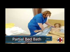 Partial Bed Bath CNA Skills Nursing Career, Nursing Assistant, Nursing Tips, Assistant Jobs, Cna Skills Test, Cna License, Cna Jobs, Skill Training, Training Videos