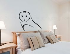 Owl outline vinyl wall decal home decor wall by ValdonImages, $22.50 #nature #birds #decoration