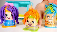 Play Doh. Toys for Kids and Kids Games. Play Doh hair Styling Competition.