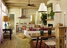 Kitchen + dining + living space, Angie Hranowsky Design Studio