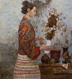 Girl with flowers - Denis Sarazhin. See his portfolio at http://sarazhin-denis.com/.
