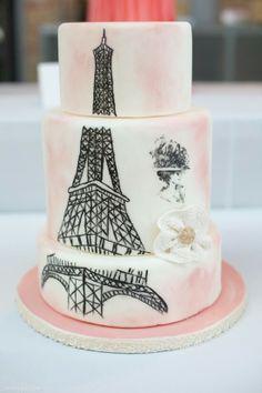 Paris eiffeltower cake