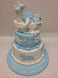 A true work of ART , Cakes Cupcakes Noahs Ark Christening Cake