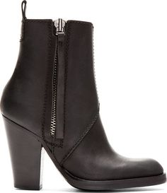 Acne Studios Black Leather Colt High Ankle Boots