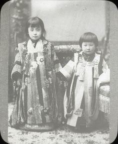 Two Japanese Children Ca 1915