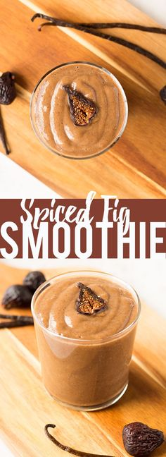 This Spiced Fall Fig Smoothie uses either fresh or dried figs, fall spices and vanilla for a healthy and indulgent fall treat or meal!
