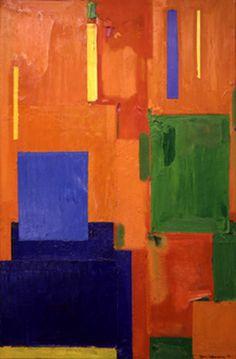 Leise zieht durch mein Gemuht liebliches Gelaute. Hans Hofmann Piet Mondrian Artwork, Hans Hofmann, Modern Art, Contemporary Art, Abstract Canvas, Abstract Paintings, Color Psychology, Painting Gallery, Abstract Expressionism