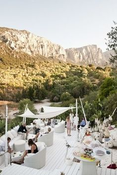 We love the look of this countryside get together in Sardinia, Italy!