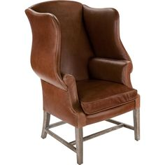 This Top Grain Leather Chippendale Wing Chair from the Safavieh Couture collection has gracefully curved wing arms and comfy box cushion.