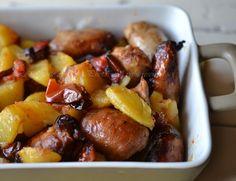salsiccia con peperoni e patate al forno,salsiccia e patate,salsiccia e peperoni,patate al forno,secondi semplici,le ricette di tina,