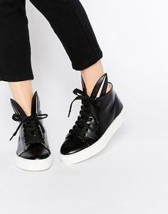 Minna Parikka Sheer Bunny High Top Sneakers With Bunny Ears Sneakers Abotinadas Mujer kHDEDh