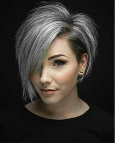 Are you looking for the most flattering short grey hair color ideas and styles? - haarschnitte Are you looking for the most flattering short grey hair color ideas and styles? Short Hair Cuts For Women, Short Hairstyles For Women, Grey Hair Styles For Women, Hairstyles Haircuts, Pixie Haircuts, Hairstyle Short, Short Hair For Round Face Plus Size, Medium Hairstyles, Everyday Hairstyles