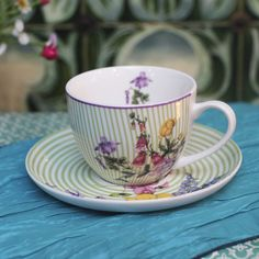 Hedgerow Tea Cup and Saucer Cup And Saucer, Tea Cups, Chic, Tableware, Kitchens, Shabby Chic, Elegant, Dinnerware, Tablewares