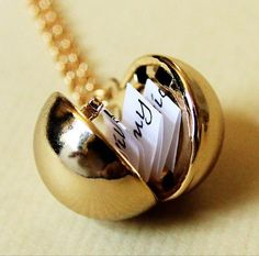 Secret Message Ball Locket Necklace  | Made on Hatch.co