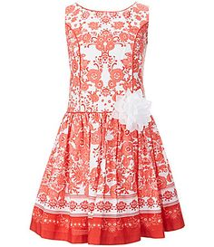 Bonnie Jean Little Girls 46X FloralPrinted Poplin DropWaist Dress #Dillards