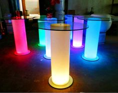 Rechargeable color changing led table for bars