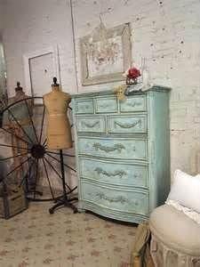 Painted Cottage Aqua Dresser