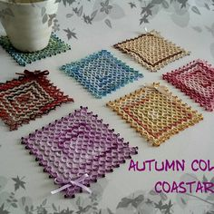 Hand rest when tired of Doiley & split rings and coasters of thread remedy program remaining halfway.  Growing up ~ Is it necessary so much?  Coaster ......  # Handmade # lacework # Tatting # tatting # lace knitting # coaster # fall # remaining yarn