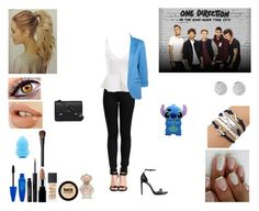 """""""Five year anniversary w/One Direction"""" by belieber933 ❤ liked on Polyvore featuring Charlotte Tilbury, Stila, Maybelline, NARS Cosmetics, Yves Saint Laurent, Sloane, Pink Stitch, women's clothing, women's fashion and women"""
