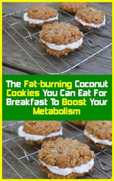You can eat fat-burning coconut cookies to boost your metabolism your food Protein Cookies, Coconut Cookies, Healthy Fats, Healthy Eating, Healthy Life, Healthy Choices, Stay Healthy, Healthy Weight, Healthy Snacks