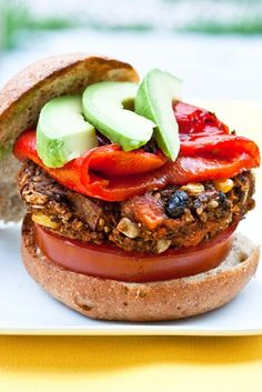 Sweet potato black bean burger.